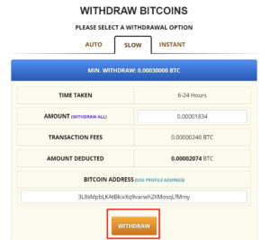 freebitcoin提款頁面-提款確認畫面