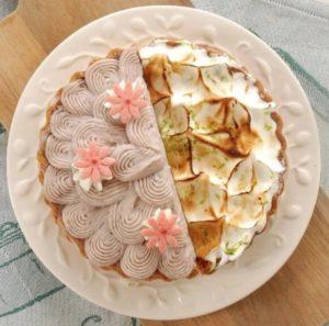 亞尼克菓子工房-6吋雙拼派芋花園檸檬派