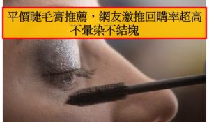 平價睫毛膏推薦,網友激推回購率超高不暈染不結塊